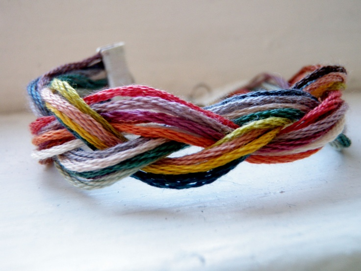 Braided Embroidery Thread Bracelet