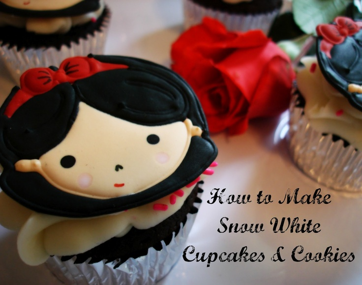 How to make Snow White Cupcake toppers and cookie transfers :)