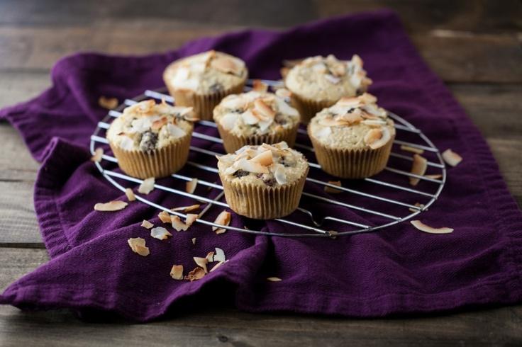 Blackberry Coconut Muffins - Whole grain flour