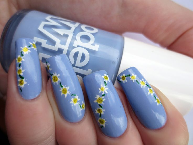 Toe Nail Designs Daisy : Daisy nail design nails
