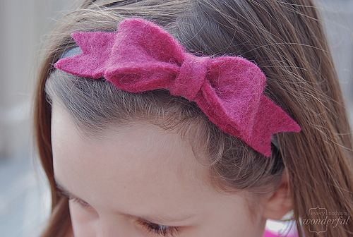 felt bow headband