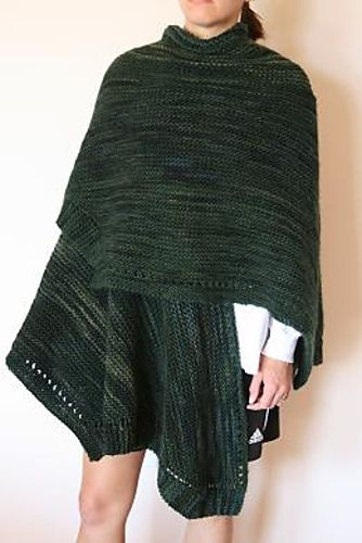 Knit Ruana Pattern Free : Pin by Connie Hyder on Knit Ideas Pinterest