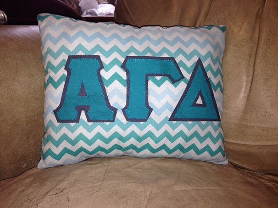 Customizable Sorority Pillow approx. 15 X 12 by kandkwhimsies, $15.00