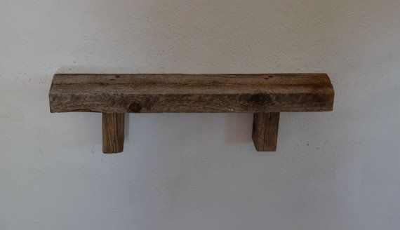 rustic wall shelf reclaimed barnwood 20 inches wide. Black Bedroom Furniture Sets. Home Design Ideas