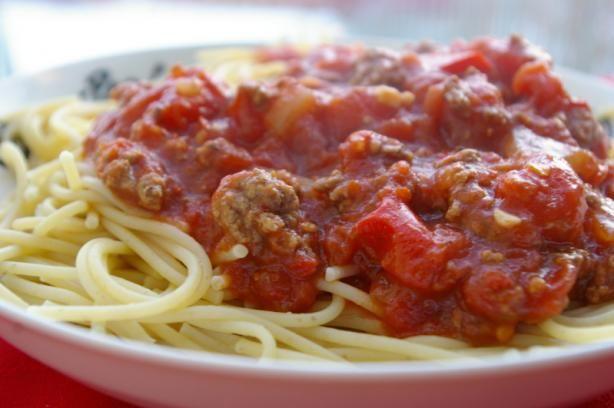 Spaghetti sauce in the crockpot!