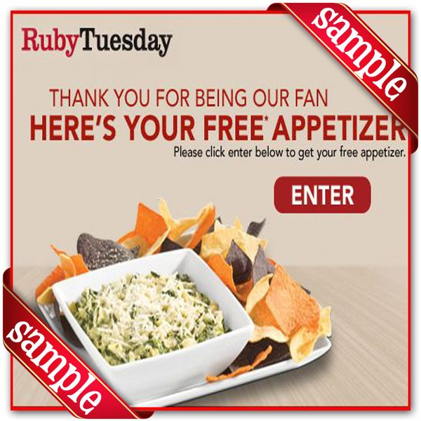Free coupon ruby tuesday restaurant