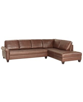 Milano leather 2 piece chaise sectional sofa for Elena leather 2 piece sectional sofa sofa chaise
