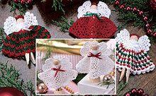 Christmas Clothespin Angels Crochet Pattern ePattern