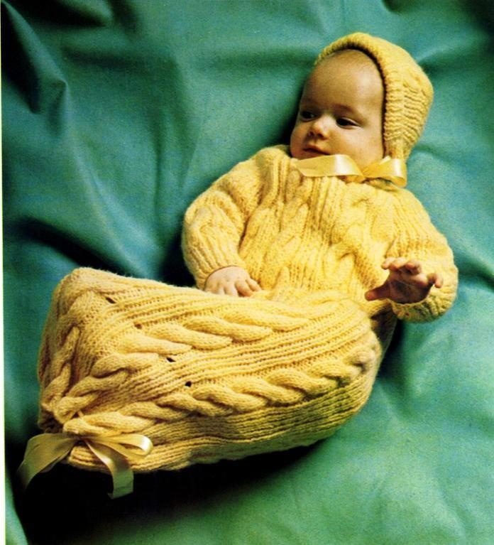 Free Baby Bunting Knitting Patterns : Baby Bunting Knitting Pattern children + baby knits Pinterest