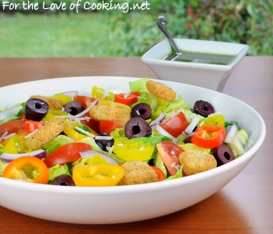 Italian Salad with Fresh Basil Vinaigrette from For the Love of ...
