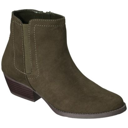 Womens Merona Kaitlin Casual Ankle Boot - Olive