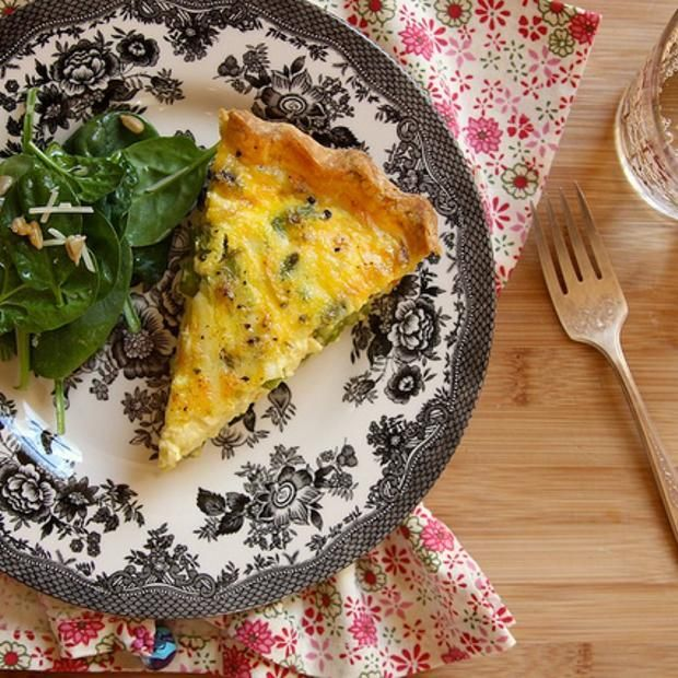 Gluten-Free Asparagus Quiche | FoodieAlexis - to try | Pinterest