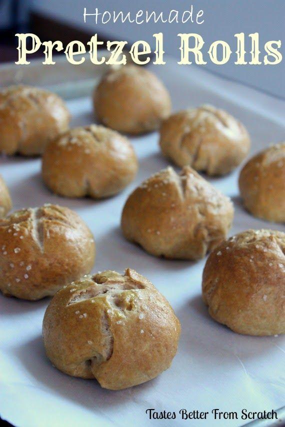 Easy and amazing Homemade Pretzel Rolls recipe!