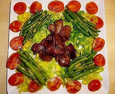 CHICKEN LIVER AND GREEN BEAN SALAD WITH GARAM MASALA recipe on www ...