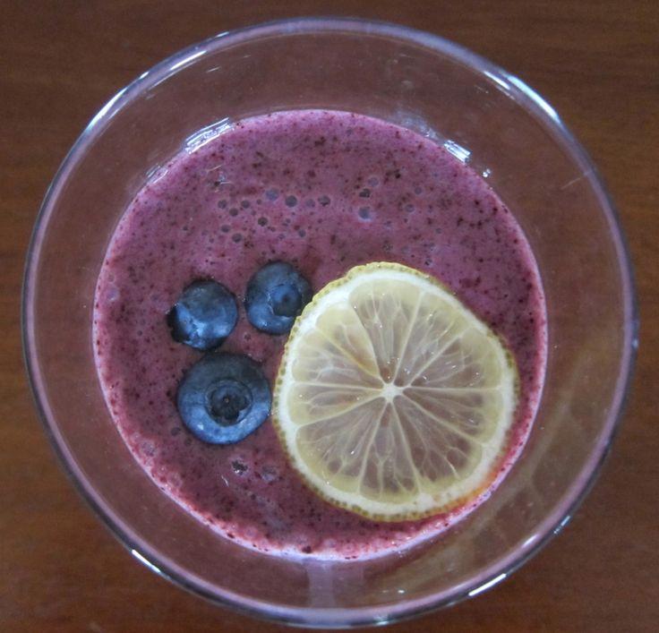 Blueberry Lemon Ginger Smoothie | Juice | Pinterest