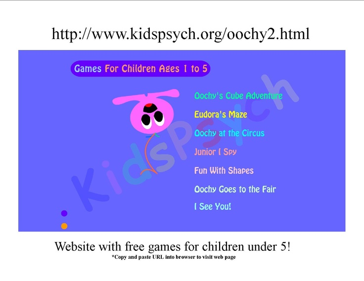 free games for kids under 5