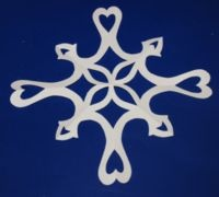 6 point paper snowflake designs