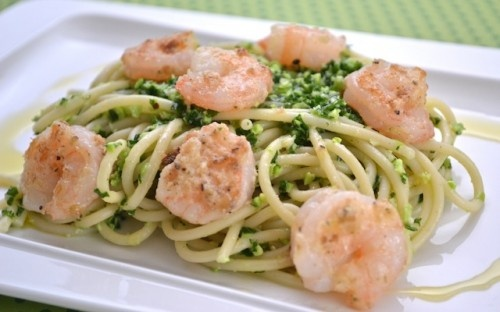 "Kale and edemame pesto and pasta | ""mmm Num"" Recipes 