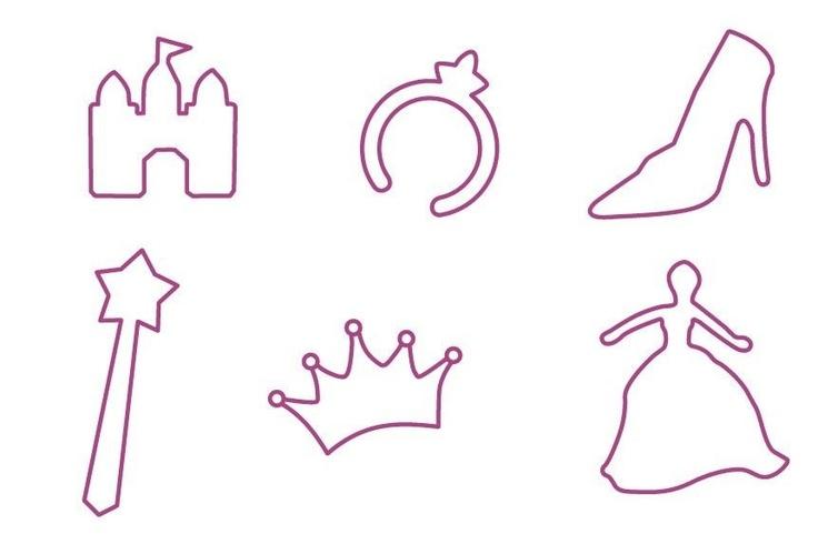 Plantilla objetos de princesa