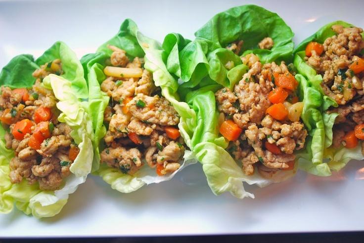 slaw lettuce cups mini chicken lettuce wraps asian chicken lettuce ...