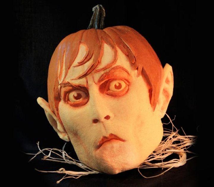 Pumpkin Head Fruit Vegetable Carvings Sculptures
