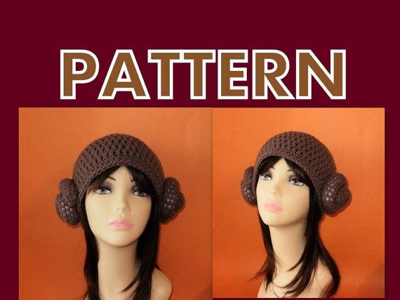 Crochet Pattern Princess Leia Hat : princess leia crochet hat pattern Crochet Geek Pinterest