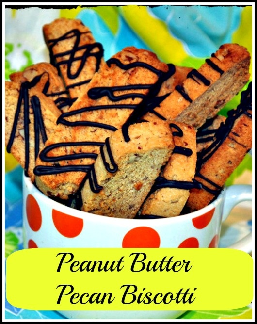 Peanut Butter Pecan Biscotti http://bibisculinaryjourney.com