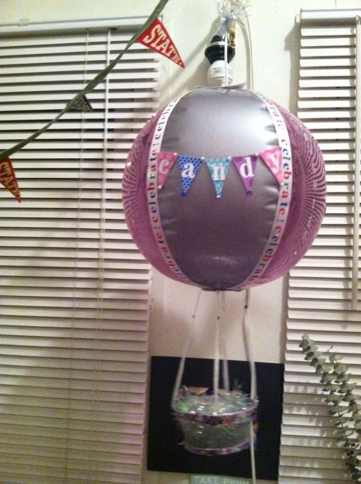 small hanging hot air balloon basket dc candy drops llc pintere