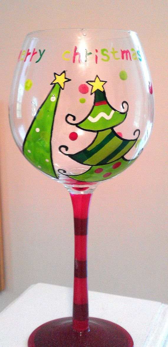 Hand painted Ch... Hand Painted Wine Glasses Diy