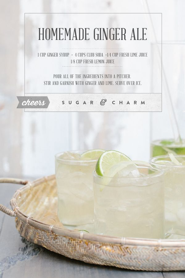 Homemade Ginger Ale made with Home Ginger Syrup! Recipe for Ginger ...