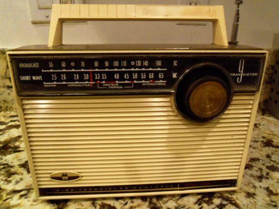 Vintage Shortwave Radio Nine Transistor Portable by MartiniMermaid, $ ...