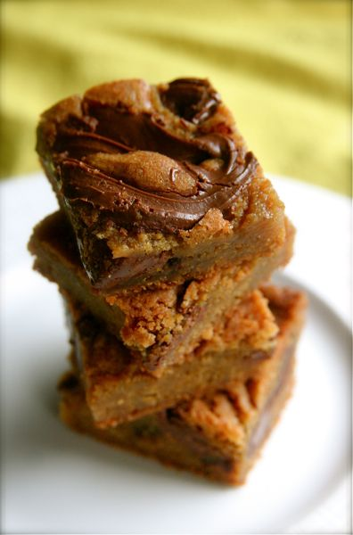 Nutella Blondies | Dessert Bars & Squares | Pinterest