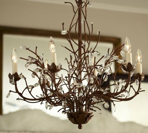 chandelier pottery barn dining