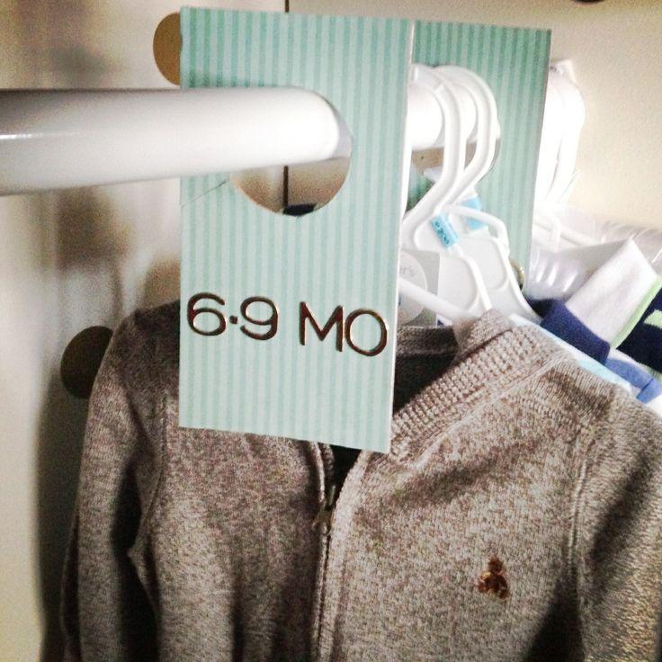 DIY Baby Closet Clothing Divider Tutorial
