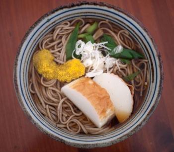 toshikoshi soba. do not skip out on some kind of citrus peel if yuzu ...