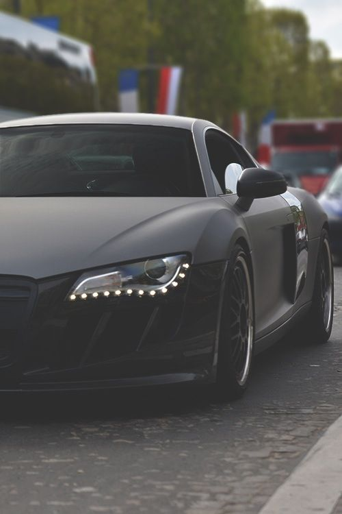 Matte black audi r8 gt 800 a day video at www energy millionaires
