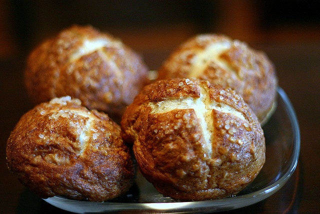 bretzel rolls by smitten, via Flickr | Yummy Food | Pinterest