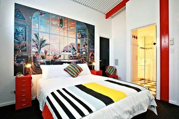 mural cabecera art interior design bedrooms pinterest