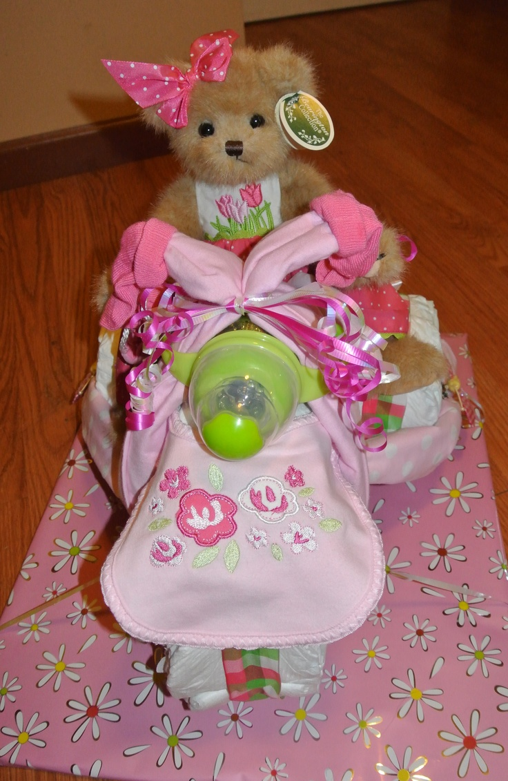 how to make a tricycle baby shower cake