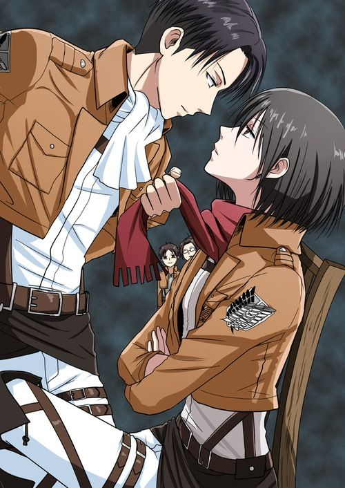 Rivaille (Levi) x Mikasa Ackerman | attack on titan ...