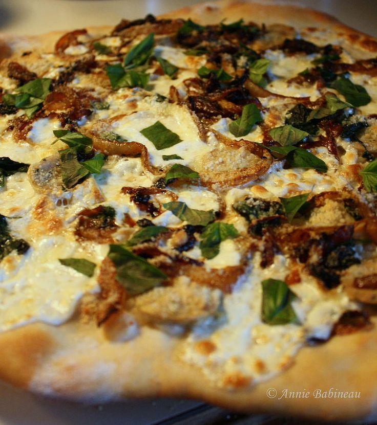 caramelized onion pizza Print by Anne Babineau