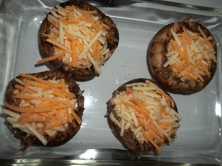 Crab stuffed mushrooms | food ideas | Pinterest