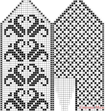 Вязание варежек узоры 70