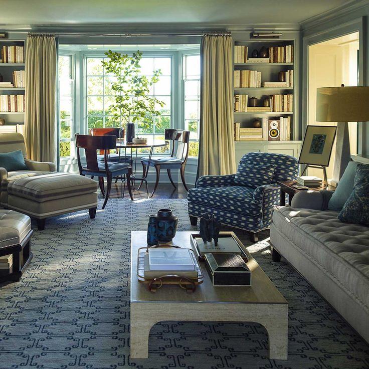 Steven gambrel interior living room family room for Family area interior design