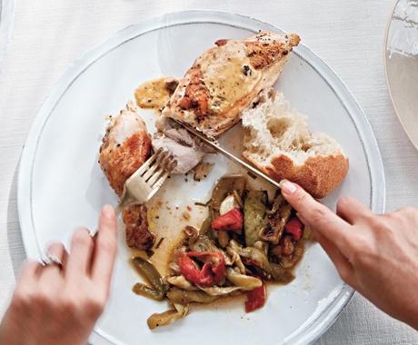 poulet saute aux herbes de provence: chicken, thyme, basil, fennel ...