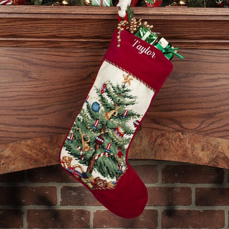 Christmas Tree Needlepoint Stocking | Stockings! | Pinterest