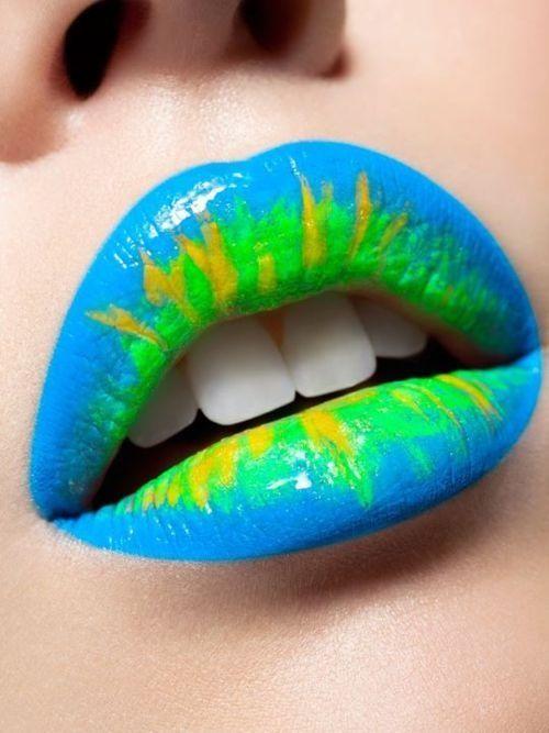 yellow green lipstick - photo #26