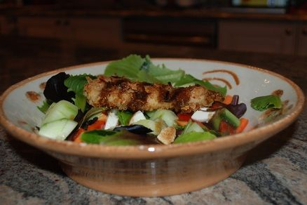 Panko Coconut Chicken Salad with Honey Balsamic Dressing | Reservation ...