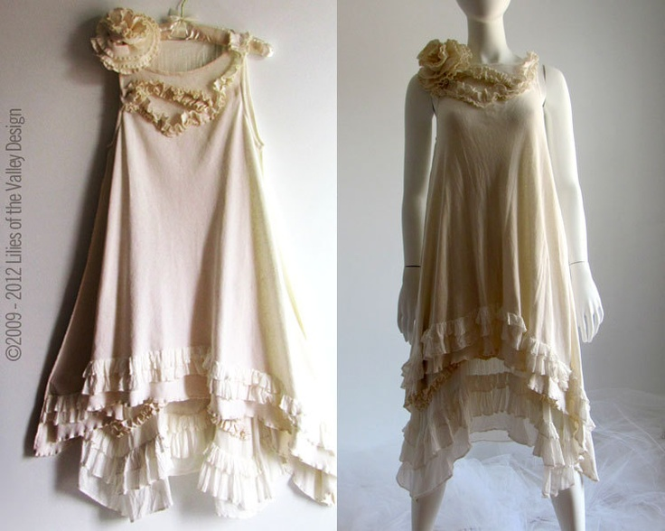 "Unique Wedding Fairy Dress. Renaissance Bohemian Shabby Cottage Chic Beach Wedding Gown. Ships Today is Size 38"" bust. Prototype Sale.. $225.00, via Etsy."