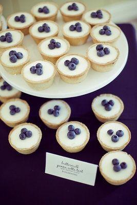 Individual blueberry cheesecake | Dream Wedding | Pinterest